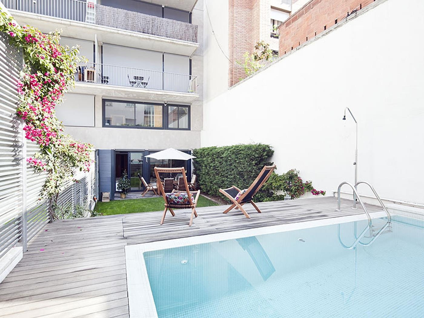 Unique Duplex apartment in Sarrià with Private Swimming Pool for 10 - My Space Barcelona Apartments
