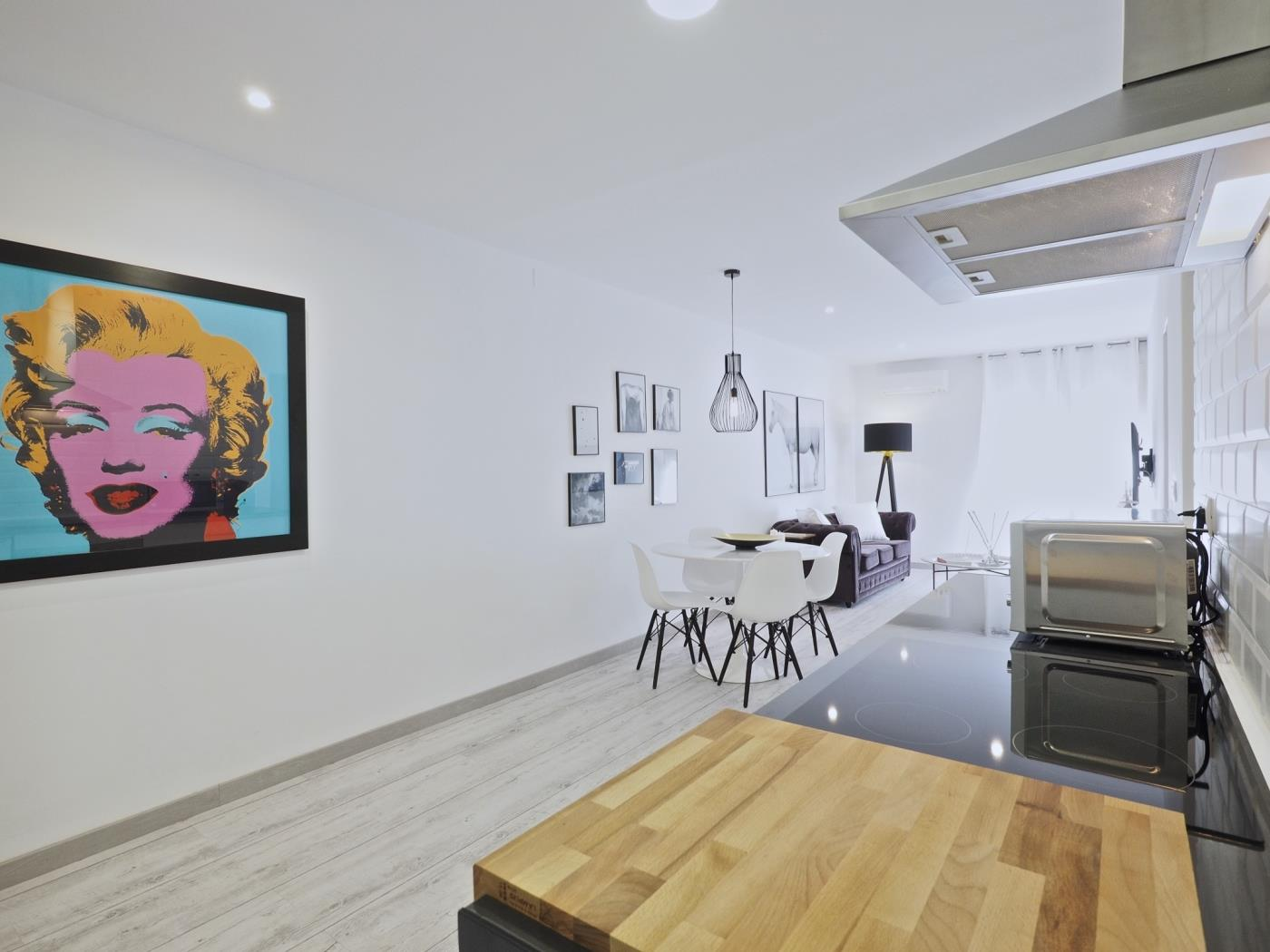 Apartment near exclusive Pedralbes with private terrace for 4 - My Space Barcelona Apartments
