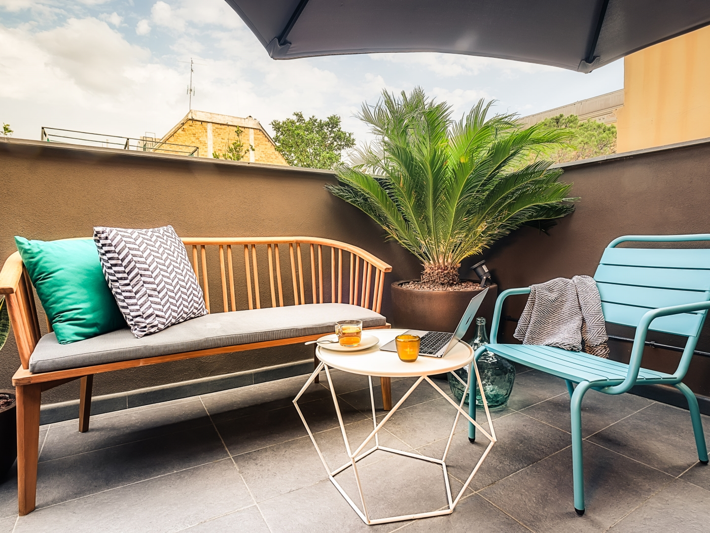 Modern and chic apartment for monthly rentals with shared terrace in the centre - My Space Barcelona Apartments